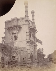 Side view of the Mehtar Mahal, Bijapur.
